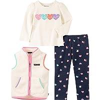 Nautica Baby Girls 3 Pieces Sweater Vest Pants Set