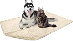 PetAmi Fluffy Waterproof Dog Blanket Fleece | Soft Warm Pet Fleece Throw for Large Dogs and Cats | Fuzzy Plush Sherpa Throw Furniture Protector Sofa Couch Bed