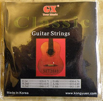 Traje cuerdas guitarra Classic GX c100-n 028/043 normal Tension ...