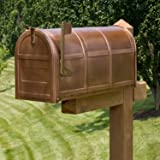 Naiture Oversized Solid Copper Post Mount Mailbox