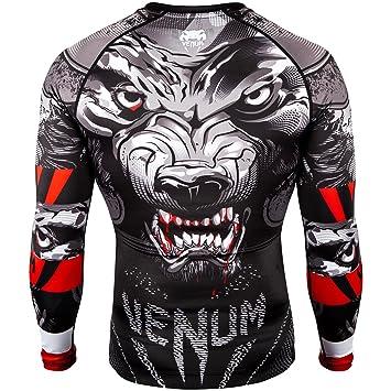 62d2a31e60568 Venum Rash Guard Werewolf Long Sleeve Black BJJ No-Gi MMA Jiu Jitsu Muay  Thai Sold by MinotaurFightStore  Amazon.co.uk  Sports   Outdoors