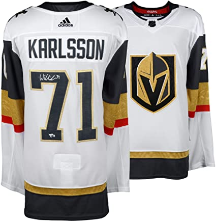 superior quality 40091 af8bb William Karlsson Vegas Golden Knights Autographed White ...