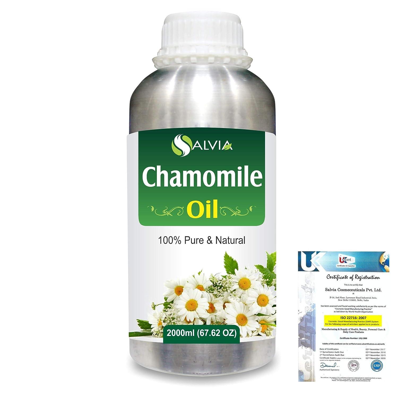 Chamomile (Matricaria chamomile) 100% Natural Pure Essential Oil 2000ml/67 fl.oz. B07R4WRBLT