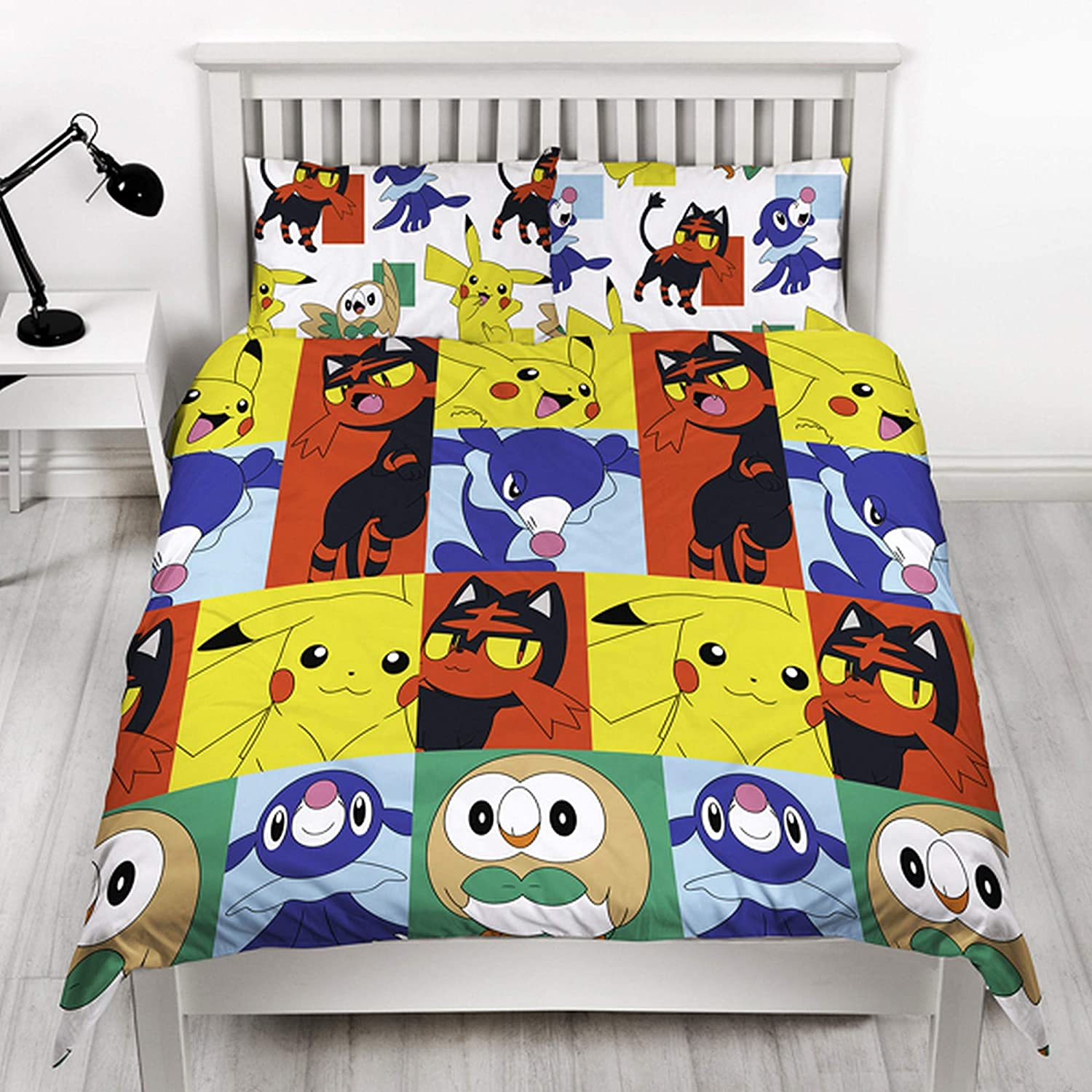 Pokemon Newbies Reversible Duvet Set (Double) (Multicolored) UTSG14934_1