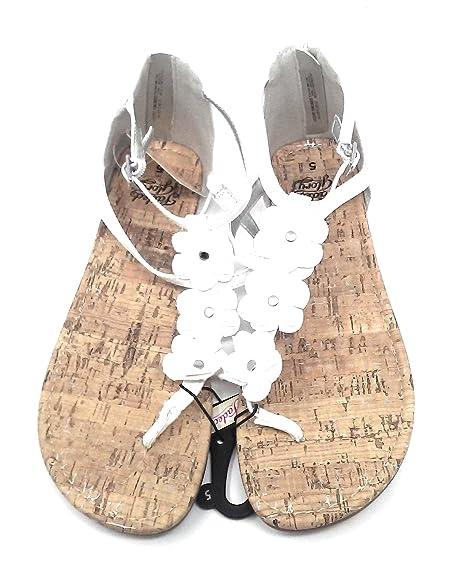 fa8f541ad8b Faded Glory Women s Back Zip White Flower Sandals