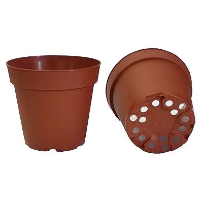 30 Plastic Pots for Plants, Cuttings & Seedlings, 4-Inch, Standard. Color: Terracotta: Garden & Outdoor
