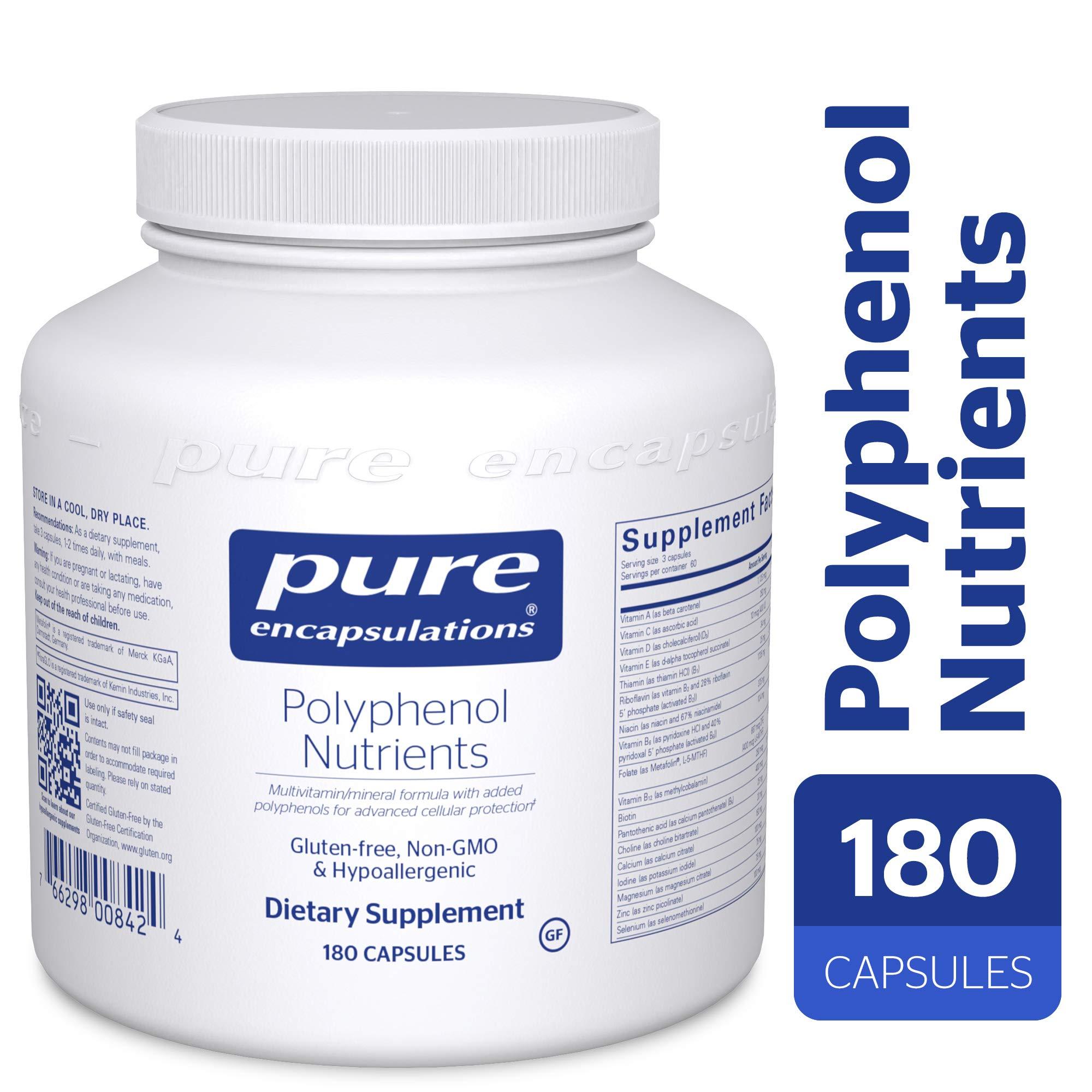 Pure Encapsulations - Polyphenol Nutrients - Hypoallergenic Nutrient Dense Multivitamin/Mineral Formula - 180 Capsules by Pure Encapsulations