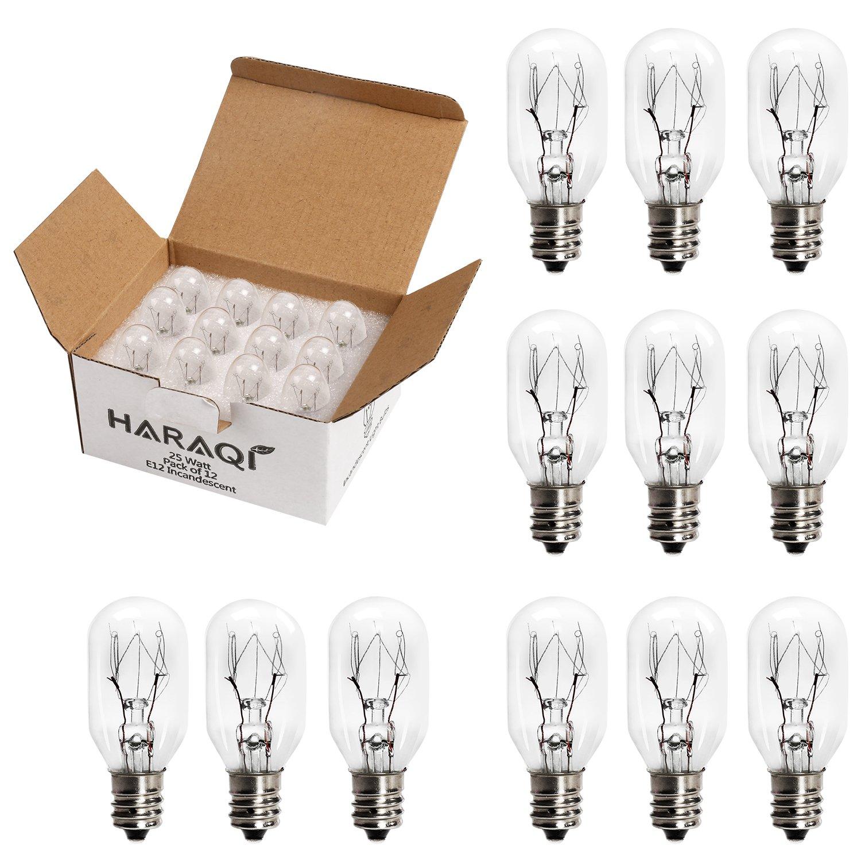 12 Pack Salt Lamp Bulbs, Incandescent Bulbs, Replacement Light Bulbs for Himalayan Salt Lamps, Salt Night Lights 25Watt E12 Socket Smart Eagle Tech