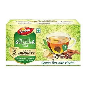 DABUR Vedic Suraksha Green Tea Bag, 25