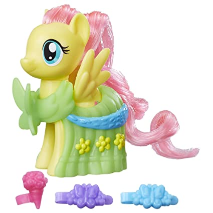 amazon com my little pony runway fashions set with fluttershy toys
