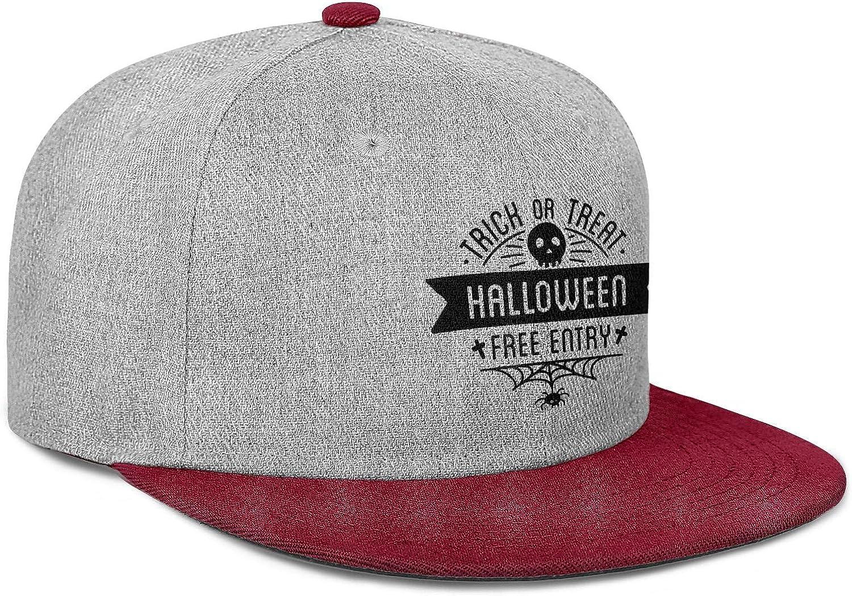 HUUKIXYOUU Mens Flat Visor Snapback Hat Medium Profile Adjustable Wool Hat