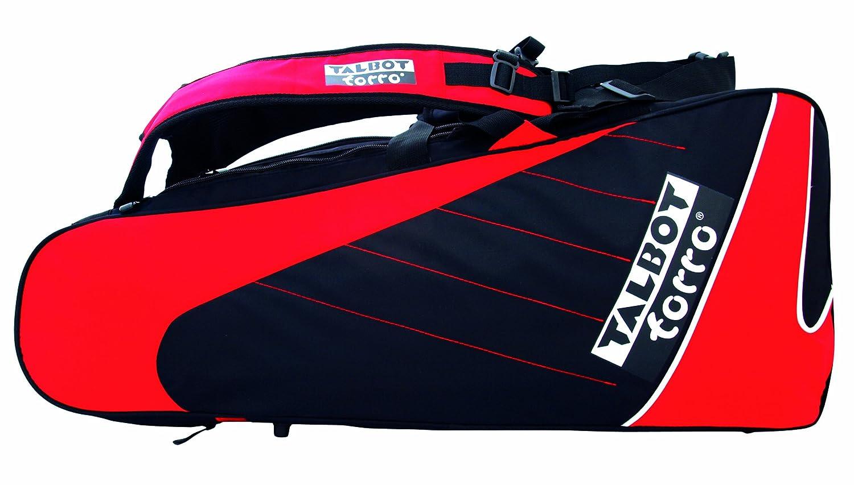 Talbot Torro, Borsa porta-racchetta per badminton Thermo Racketbag, (Black-Red) 449215