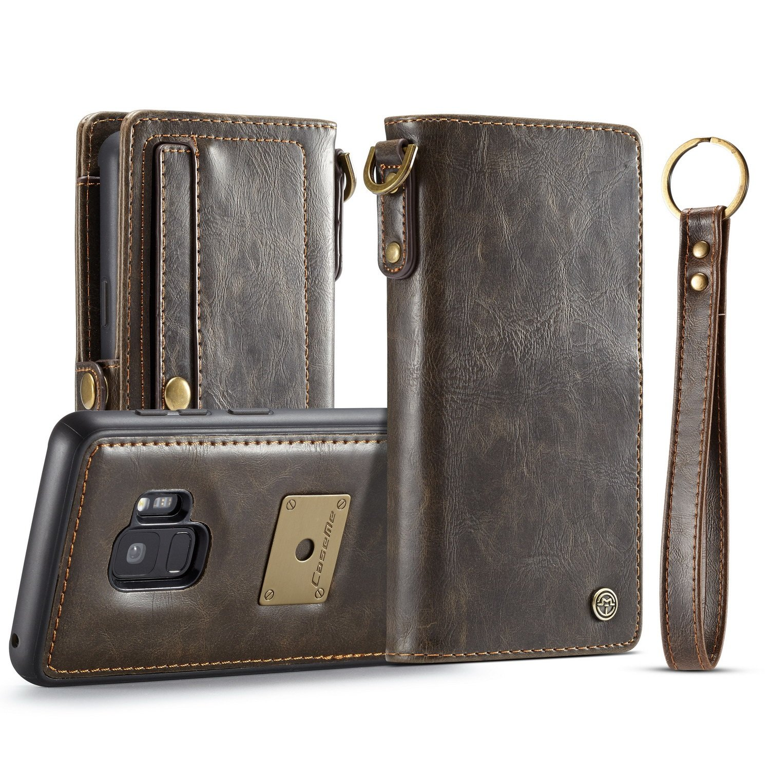 XIANGBAO-Case CaseMe For Samsung Galaxy S9 Wallet Case Premium Protective PU Leather Flip Magnetic Cover Quality Guarantee (Color : Brown) by XIANGBAO-Case