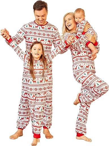 Conjunto de pijama familiar de Navidad con perro, a juego con ...