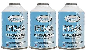 ZeroR R-134a Refrigerant - Made in USA - 12oz Cans (3)