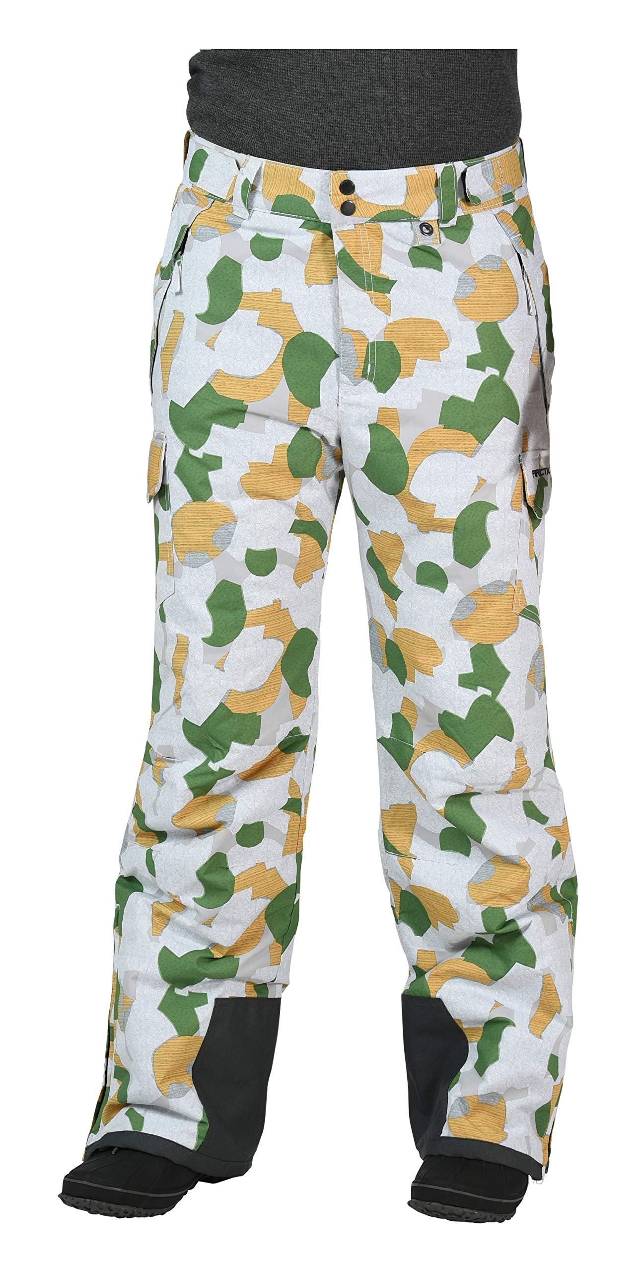 Arctix Men's Snow Sports Cargo Pants, Small, Green GEO