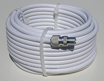 15m aerial cable single white extension kit - exterior or interior - extend  your aerial,