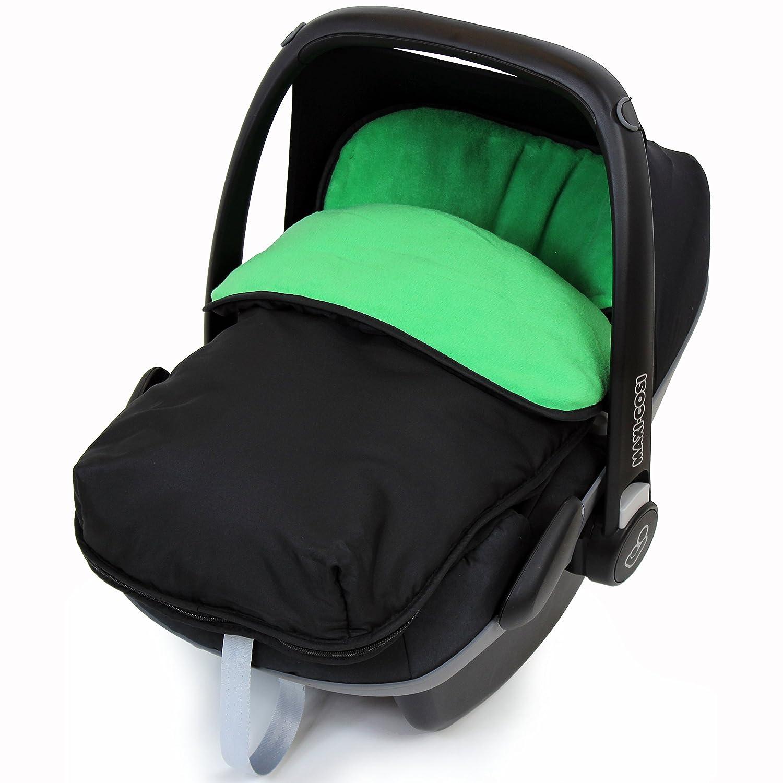 Black//Green iSafe Buddy Jet Carseat Footmuff Leaf