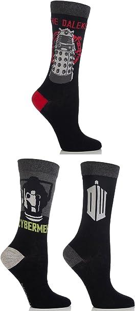 Cartoon Heroes Kids 3 Pair SockShop Doctor Who Socks