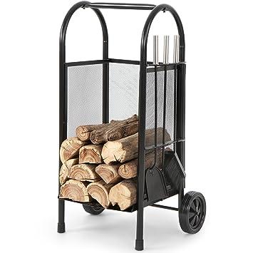 Jago -Carro de leña para chimenea/Carretilla para herramientas