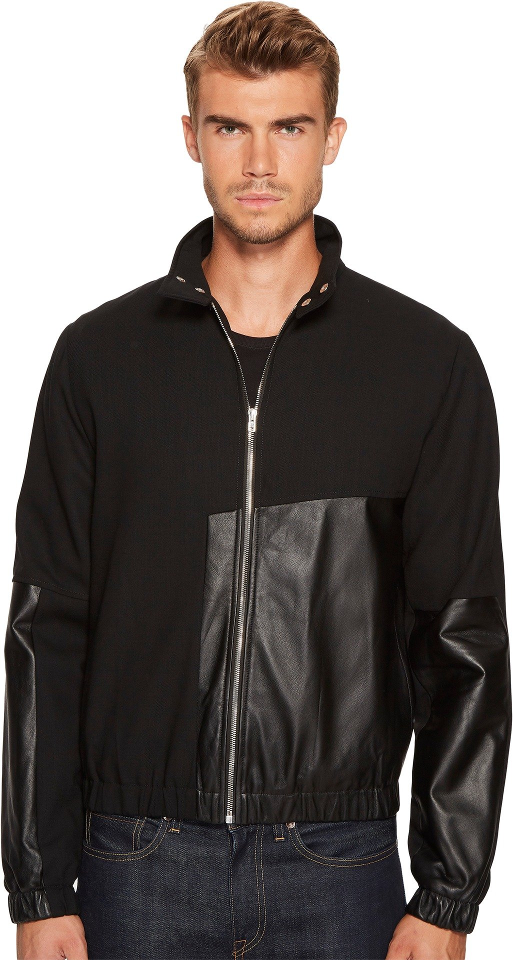 McQ  Men's Recycled Summer Blouson Jacket Darkest Black Outerwear