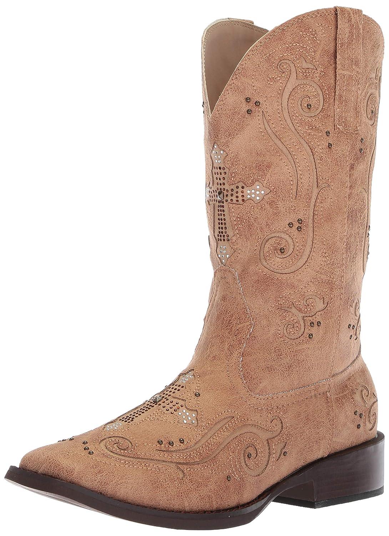 c59ab3a33f8 Amazon.com   Roper Women's Faith Western Boot, tan, 9 D US   Mid-Calf