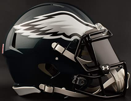 7270be5345d Image Unavailable. Image not available for. Color  Riddell Philadelphia  Eagles NFL Football Helmet ...