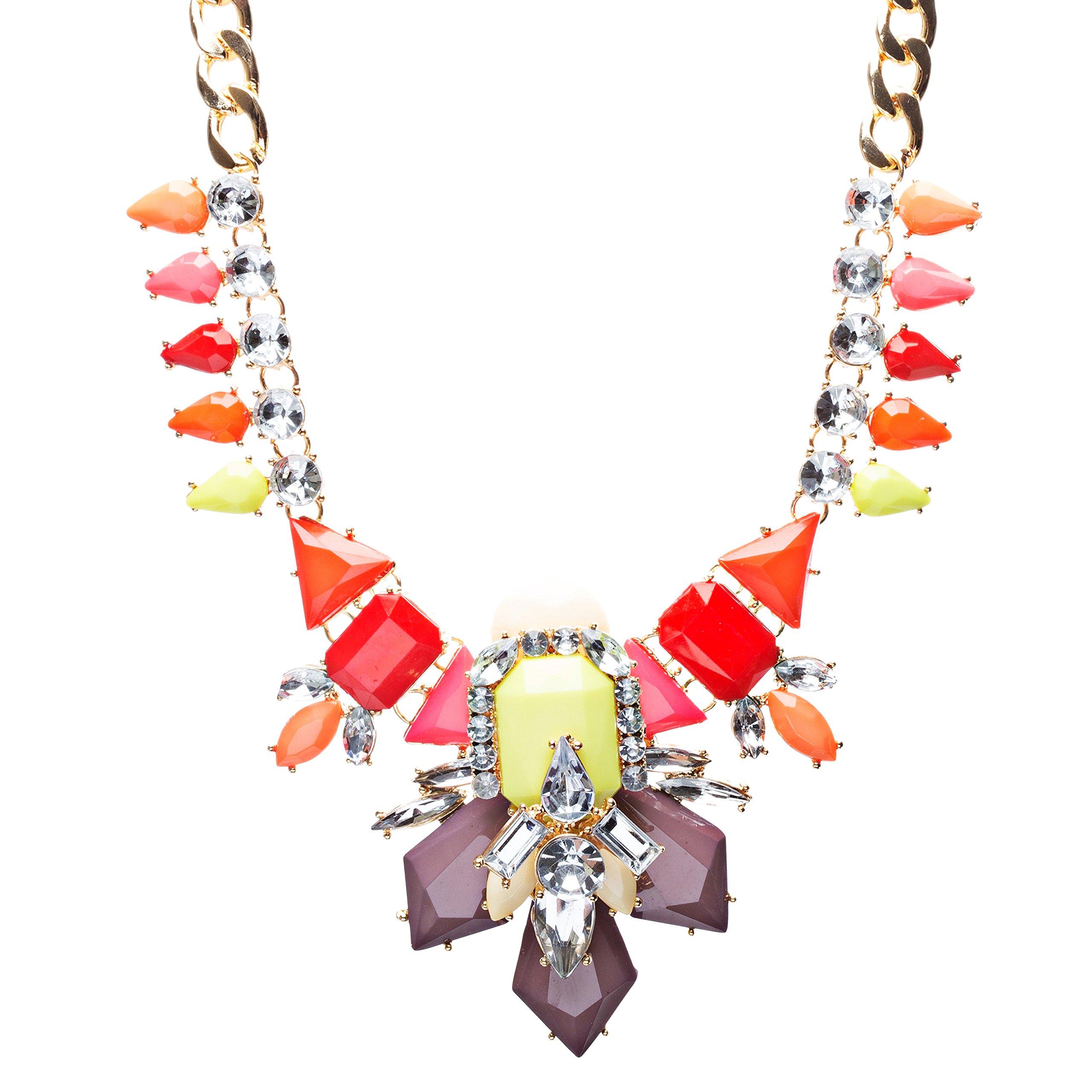 Audacious Trendy Crystal Rhinestone Statement Jewelry Necklace N73 Multi
