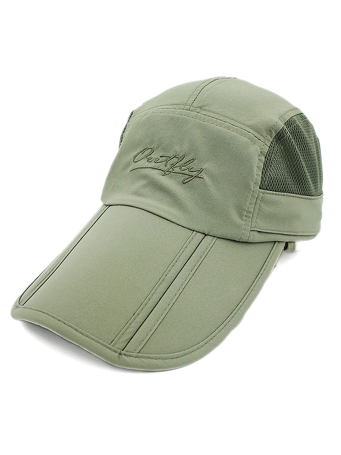 3e689460c8cd15 WANYING Unisex Safari Cap with Extra Long Neck Protection Anti UV Foldable Baseball  Cap for Camping Outdoor - Army Green: Amazon.co.uk: Clothing