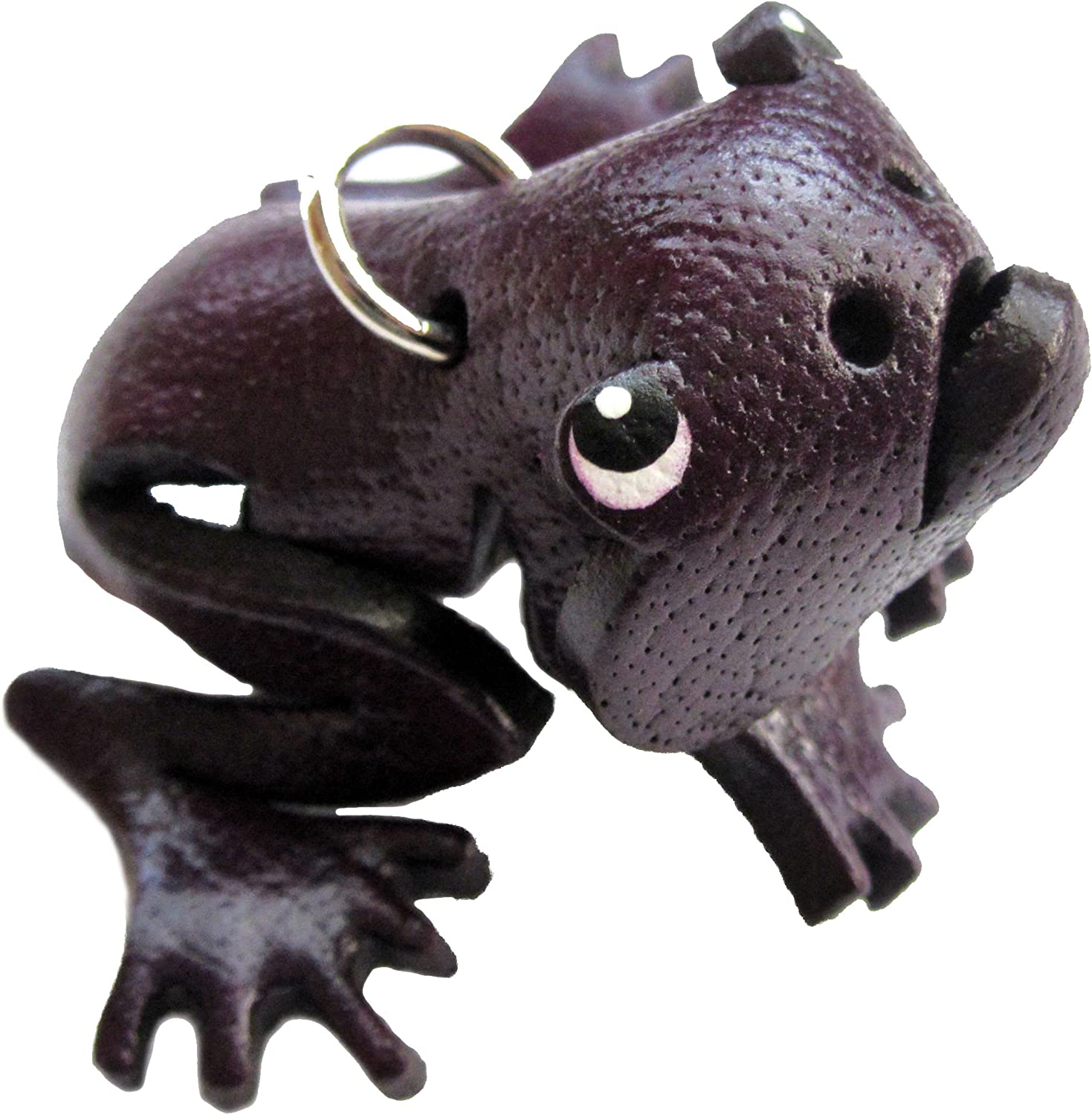 Frog Backpack Novelty Toy Fob Purple Leather Zipper Pull Charms Item 4056