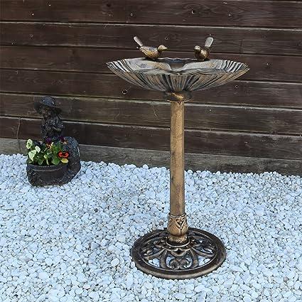 Fontaine B-Ware Oiseau potions Balcon Jardin Vasque à oiseaux abeilles Ciment Ø 25 cm