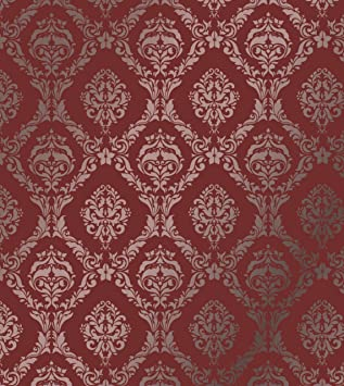 Large Wall Damask Stencil Faux Mural Design #1007 13u0026quot ...
