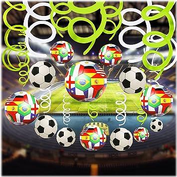 Soccer Foil techo techo colgante decoraciones, 30pcs Spiral ...