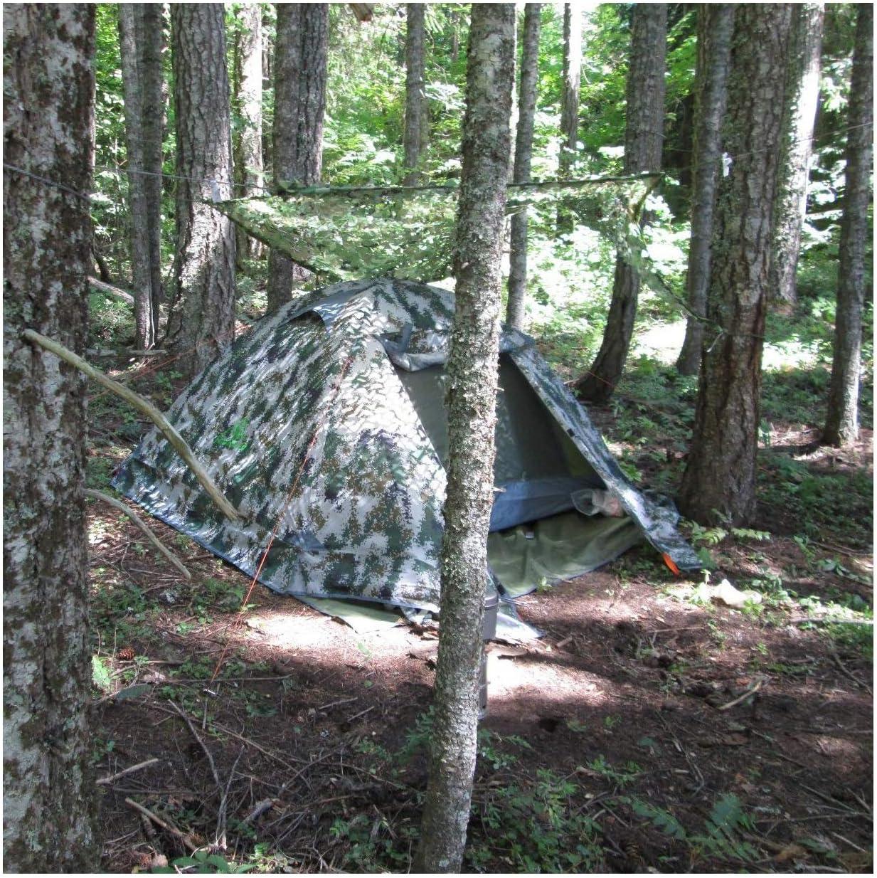 Red Camuflaje Caza, Exterior Ocultar Camuflaje Red de Camuflaje For Acampar, Camuflaje Selva, Caza de Fauna Silvestre de Protección Solar, la Fotografía, la Sombra del Coche, Camping de Ocio, Bar 4x3: Amazon.es: