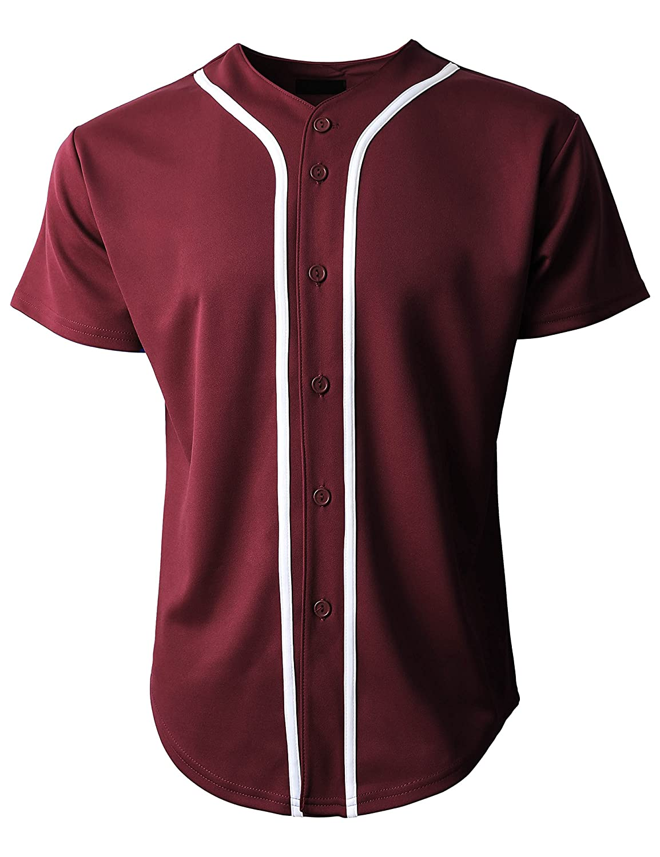 KS 1KSA0002 ボタンダウンTシャツ メンズ 野球ジャージー プレーン 半袖 B06ZZS79QX 3L|バーガンディ/ホワイト バーガンディ/ホワイト 3L