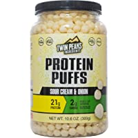 Twin Peaks Low Carb, Allergy Friendly Protein Puffs, Sour Cream & Onion (300g, 21g Protein, 2g Carbs, 130 Cals)