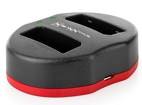 Baxxtar TWIN PORT 1832 USB Dual Cargador para batería Canon LP-E10 para Canon EOS 1100D 1200D 1300D 2000D 4000D