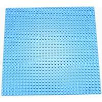 "EduToys Compatible Base Plate Board Light Blue 10"" x 10"" (32 x 32 Pegs) for Building Blocks Bricks"