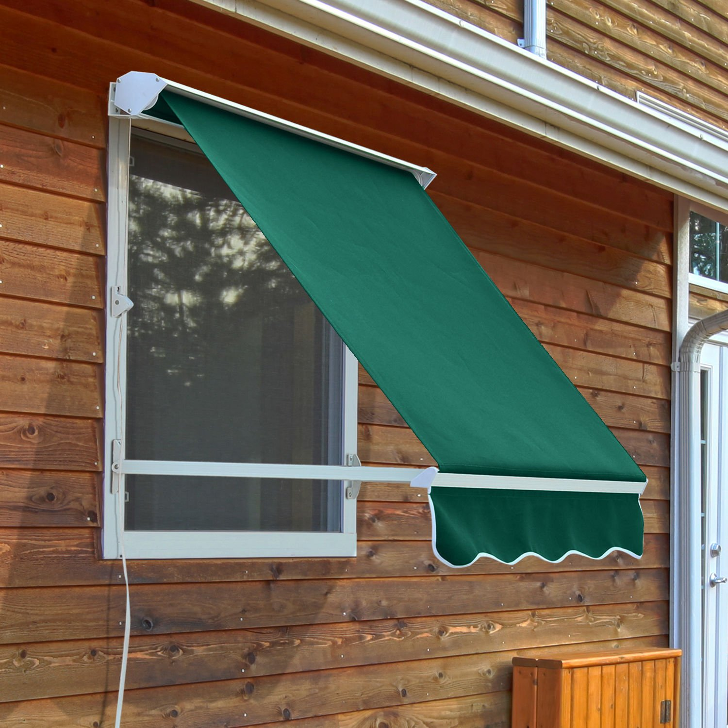 sun shade shelter outdoor awning outsunny living canopy cover manual waterproof door patio front rain retractable back