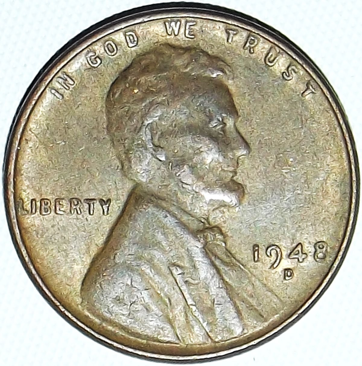 1948-D Lincoln Cent BU red