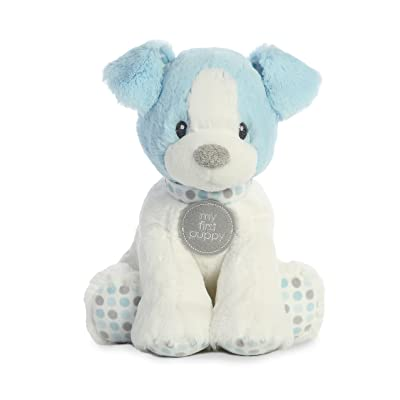 "ebba - My First Puppy 10"" First Puppy Polka Dot Blue - Small: Toys & Games"