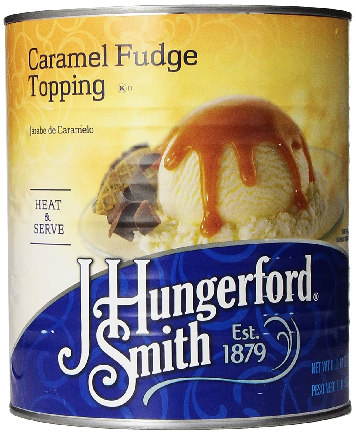 Amazon.com: J. Hungerford Smith Fudge Topping, Caramel, 138 Ounce