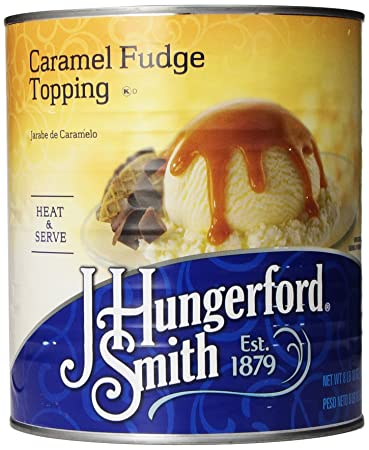 J. Hungerford Smith Fudge Topping, Caramel, 138 Ounce