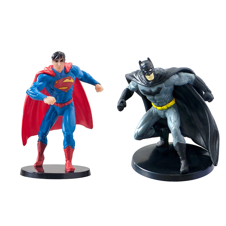 Amazon.com: Dc Comics Superman and Batman Figurines 2.75 PVC: Toys ...
