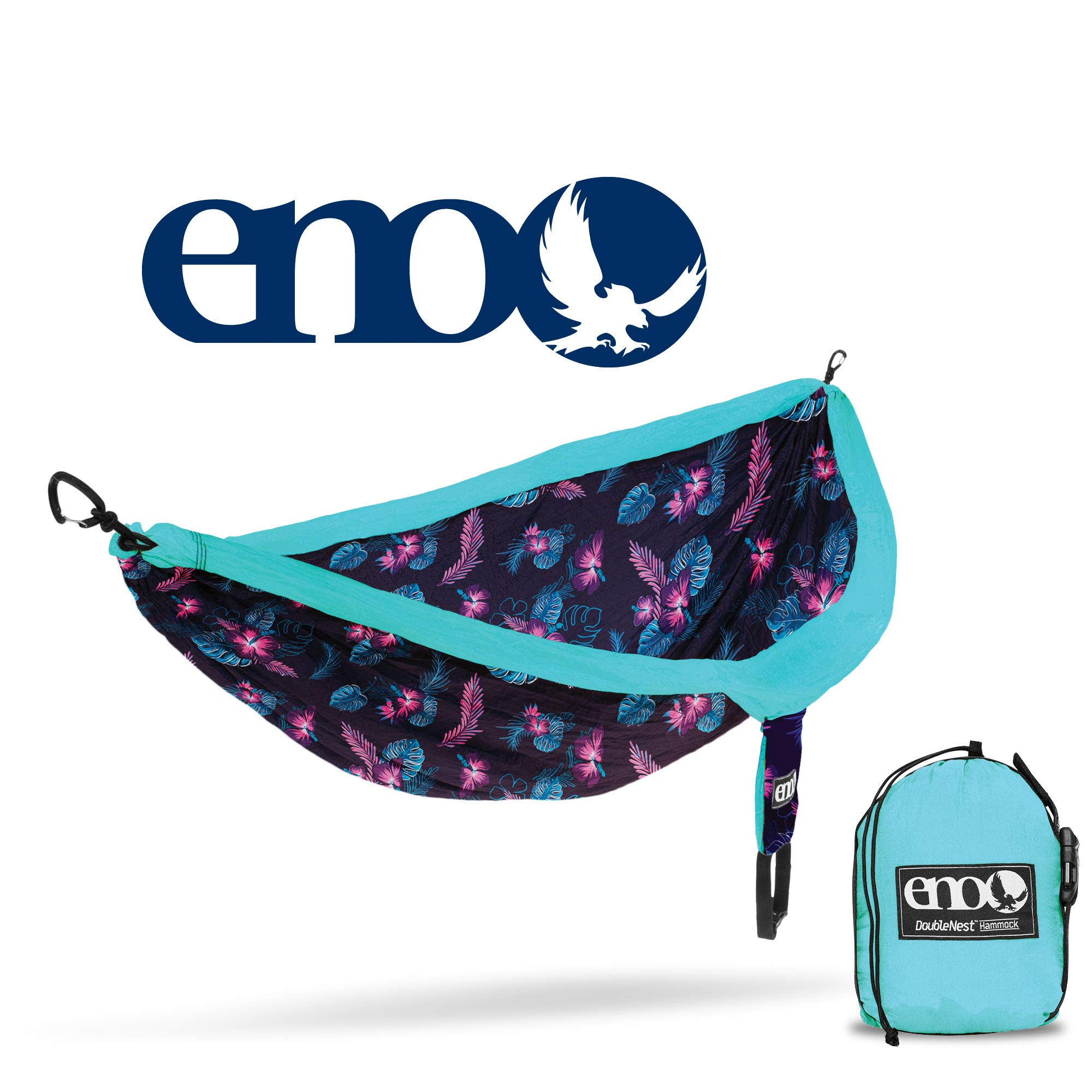 ENO - Eagles Nest Outfitters DoubleNest Print Portable Hammock for Two, Blue Aloha