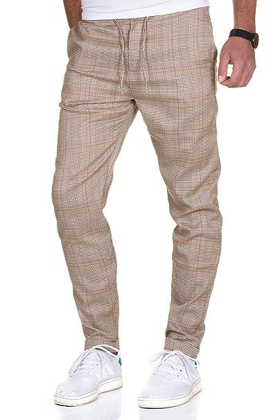 Super Specials Modestil beliebte Marke Sublevel Herren Karo Chino Hose mit Aufschlag Stoffhose Anzughose Business  Pants