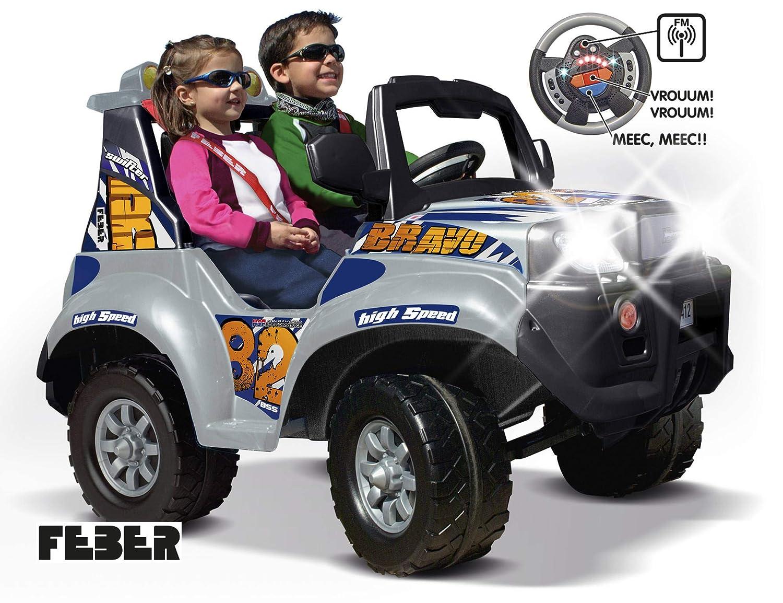 FEBER - Vehículo infantil de 2 plazas X-Storm Bravo High Speed 12V con luces y sonidos (Famosa 800006466): Amazon.es: Juguetes y juegos