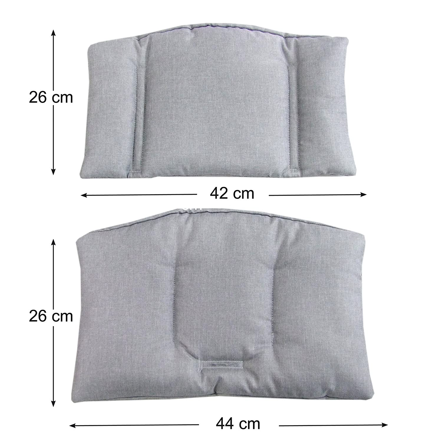 14/Colours heather 2/Pieces Seat Cushion Cushion Cover dark grey Bambini World Seat Cushion Set for Stokke Tripp Trapp Highchair