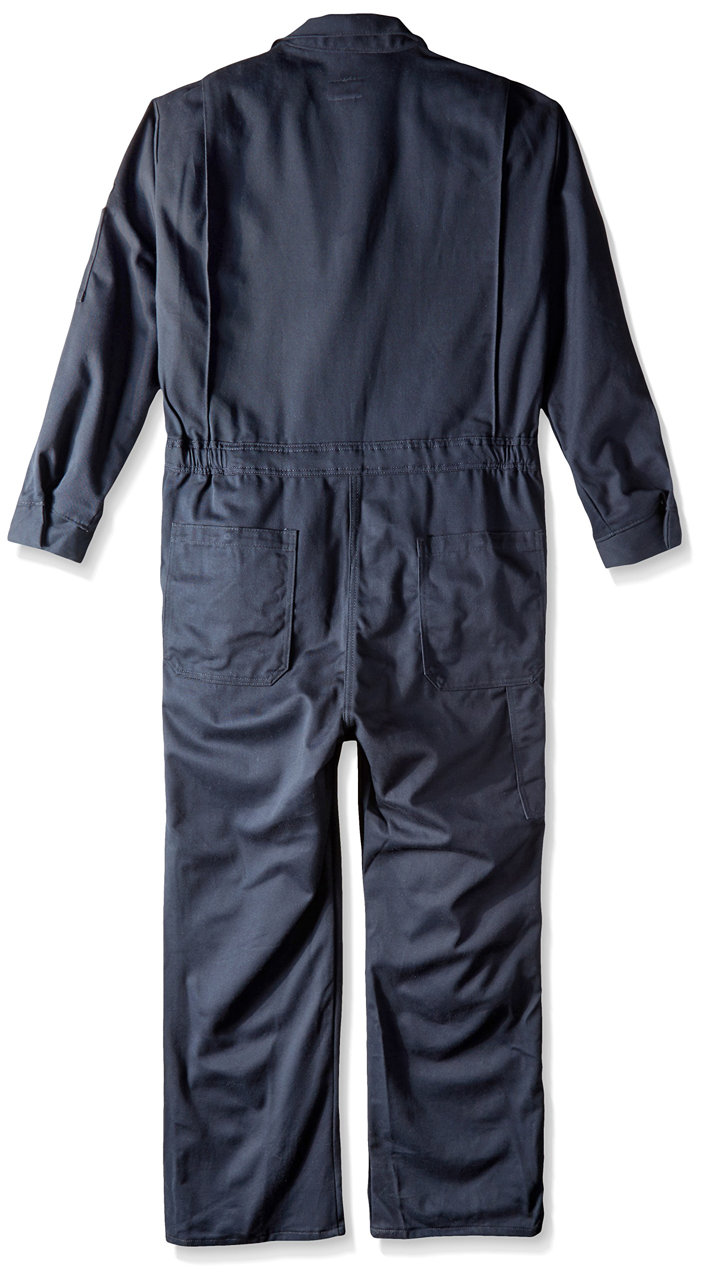 Bulwark Men's Flame Resistant 4.5 oz Nomex IIIA Classic Coverall with Hemmed Sleeves, Navy 52 Long by Bulwark FR (Image #2)