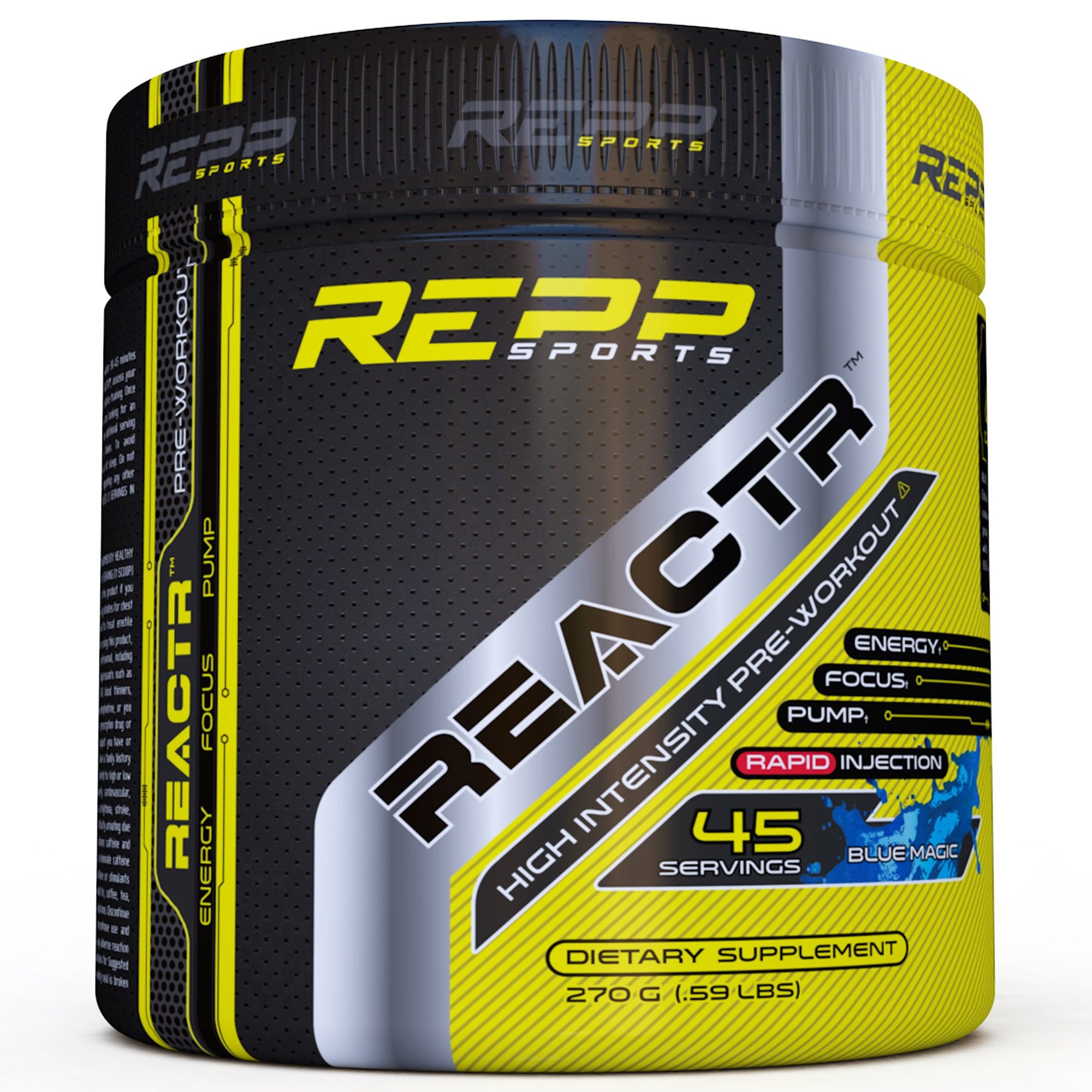 Amazon.com: Repp Sports Reactr Explosive Pre-Workout Powder, (Blue Magic) 45 Servings: Health & Personal Care